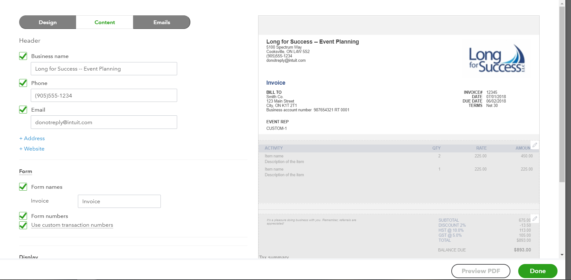 Customizing Your Quickbooks Online Invoice Templates My Cloud Bookkeeping Quickbooks Expert