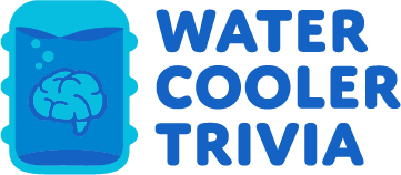 blue water cooler trivia logo