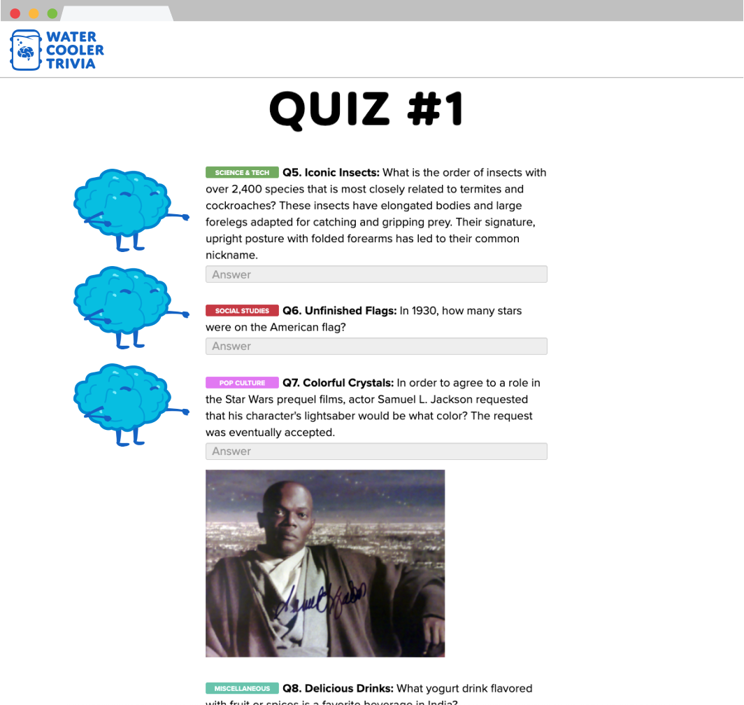 quiz screenshot