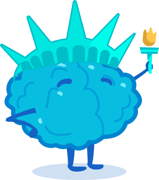 Statue of Liberty brain