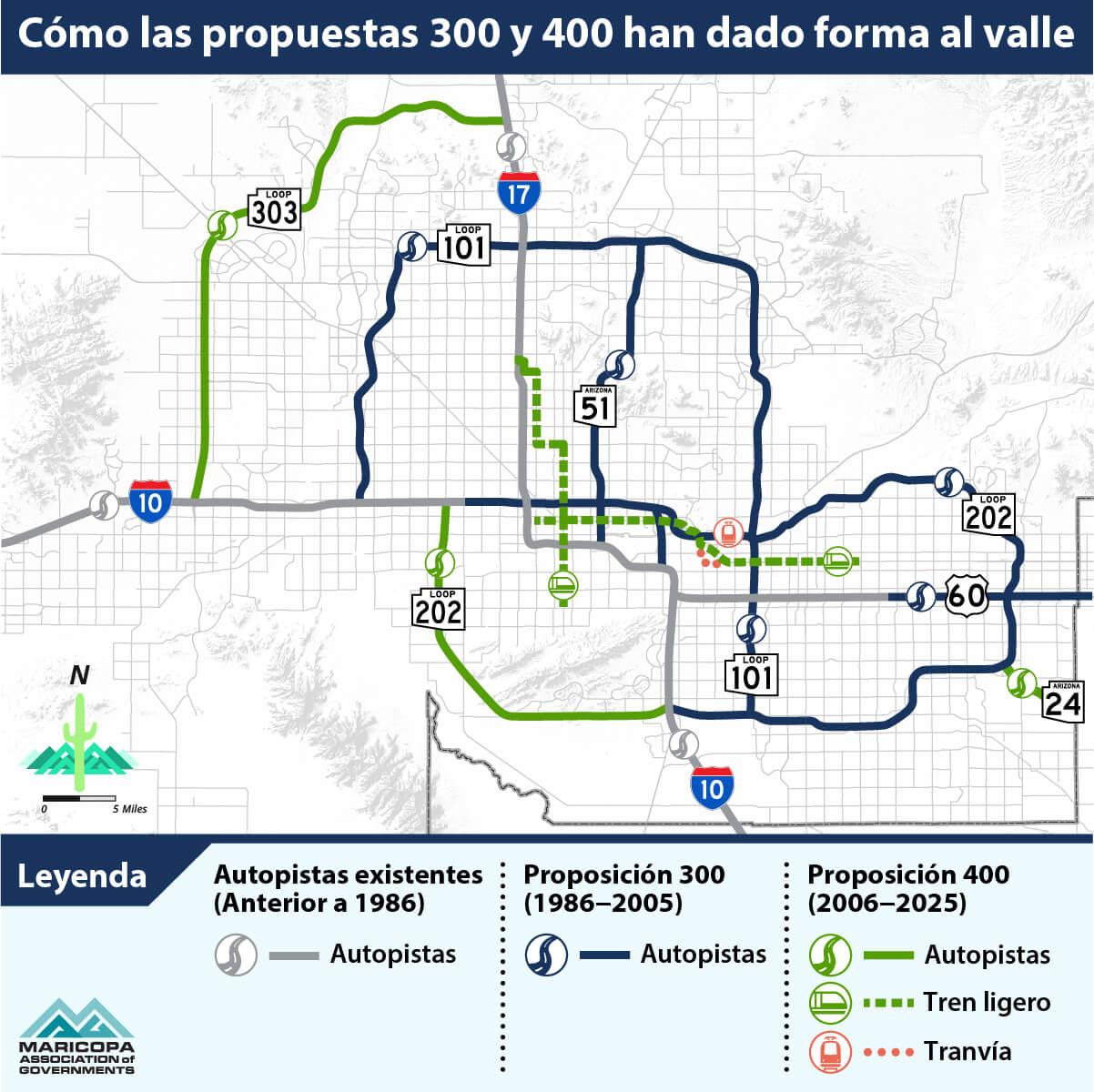 Mapa que muestra cómo las proposiciones 300 y 400 han dado forma al Valle