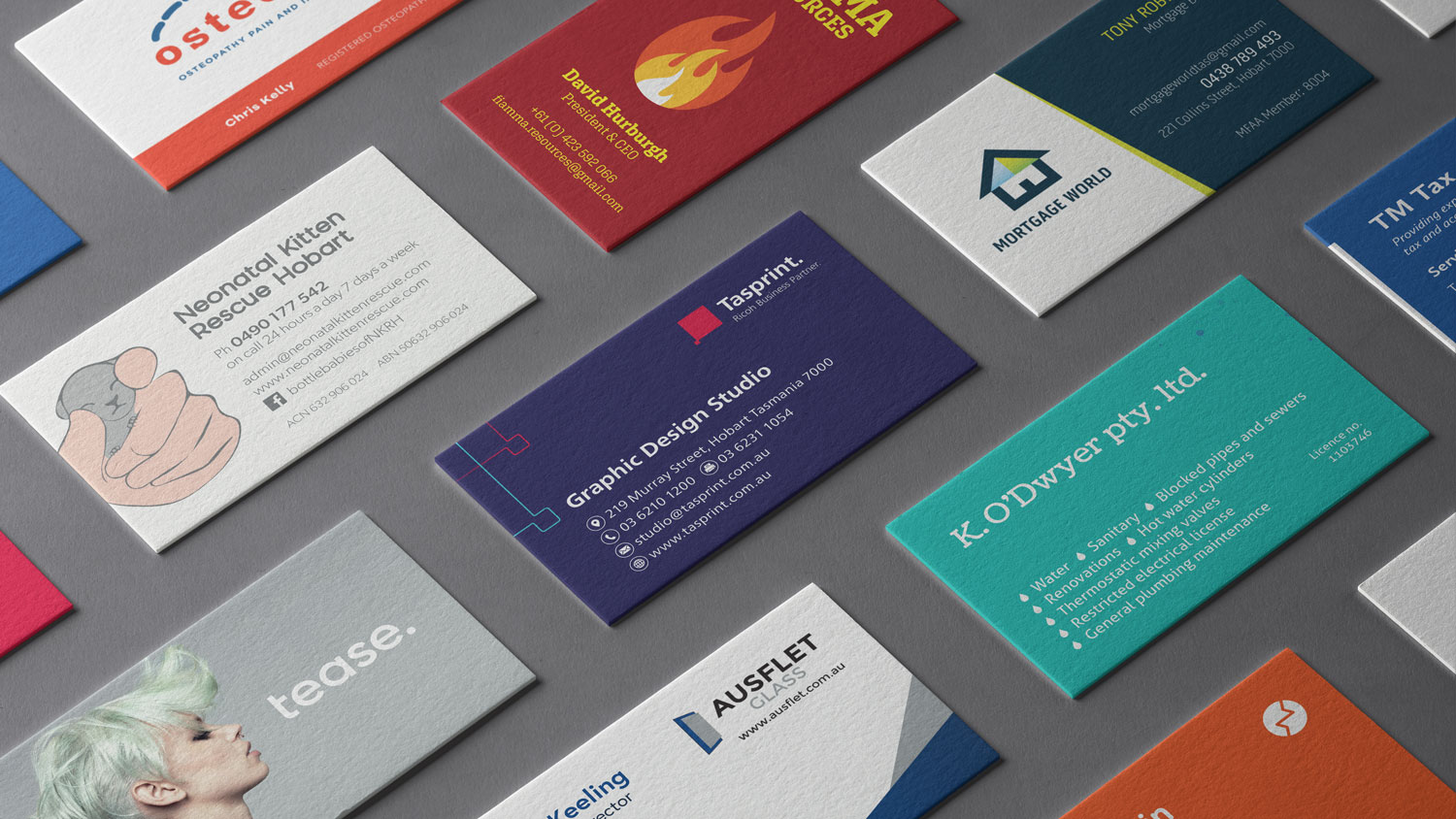 Business card printing and graphic design