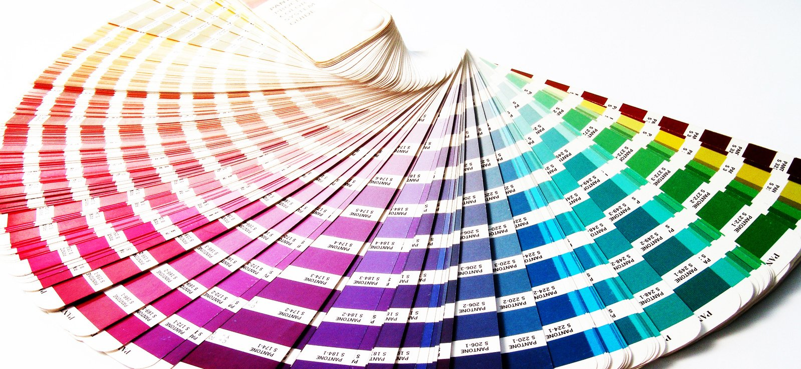 Pantone colour swatches