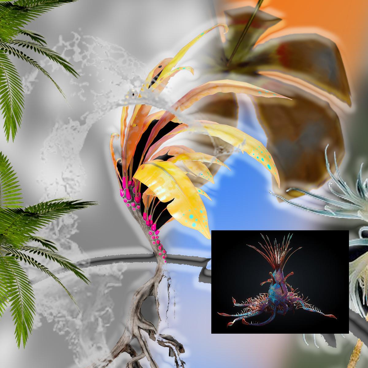 Irene P Tello / Ikebana - Lotus Lax
