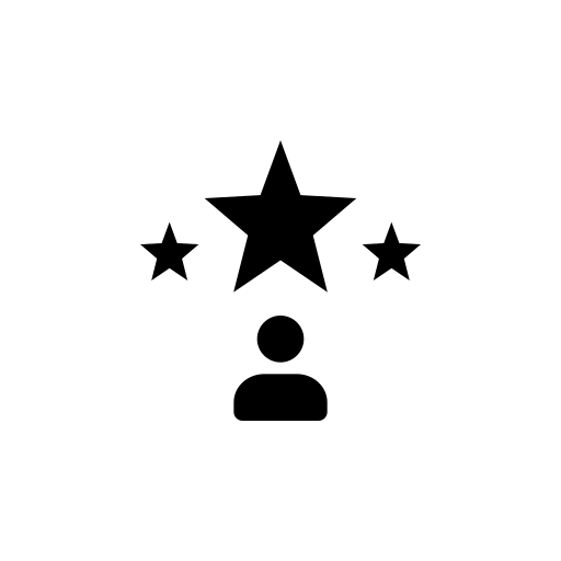 Rating and review icon