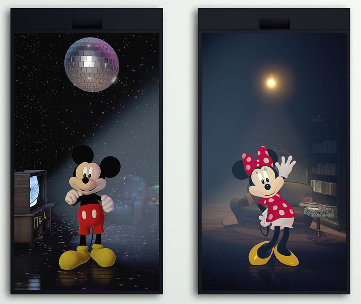 Mickey & Minnie: An Interactive Diptych