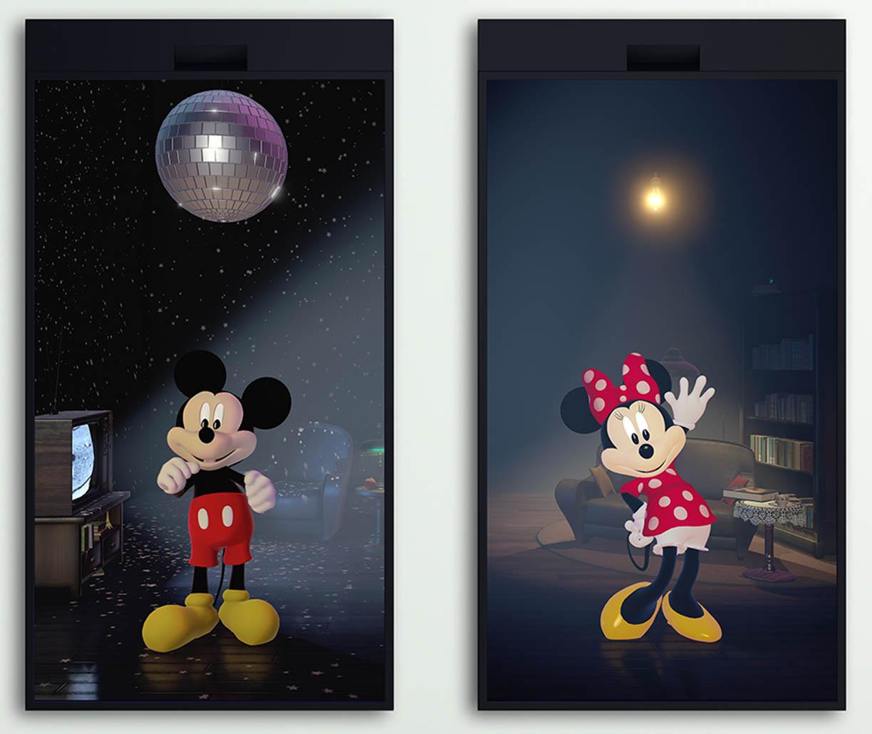 Mickey & Minnie: An Interactive Diptych