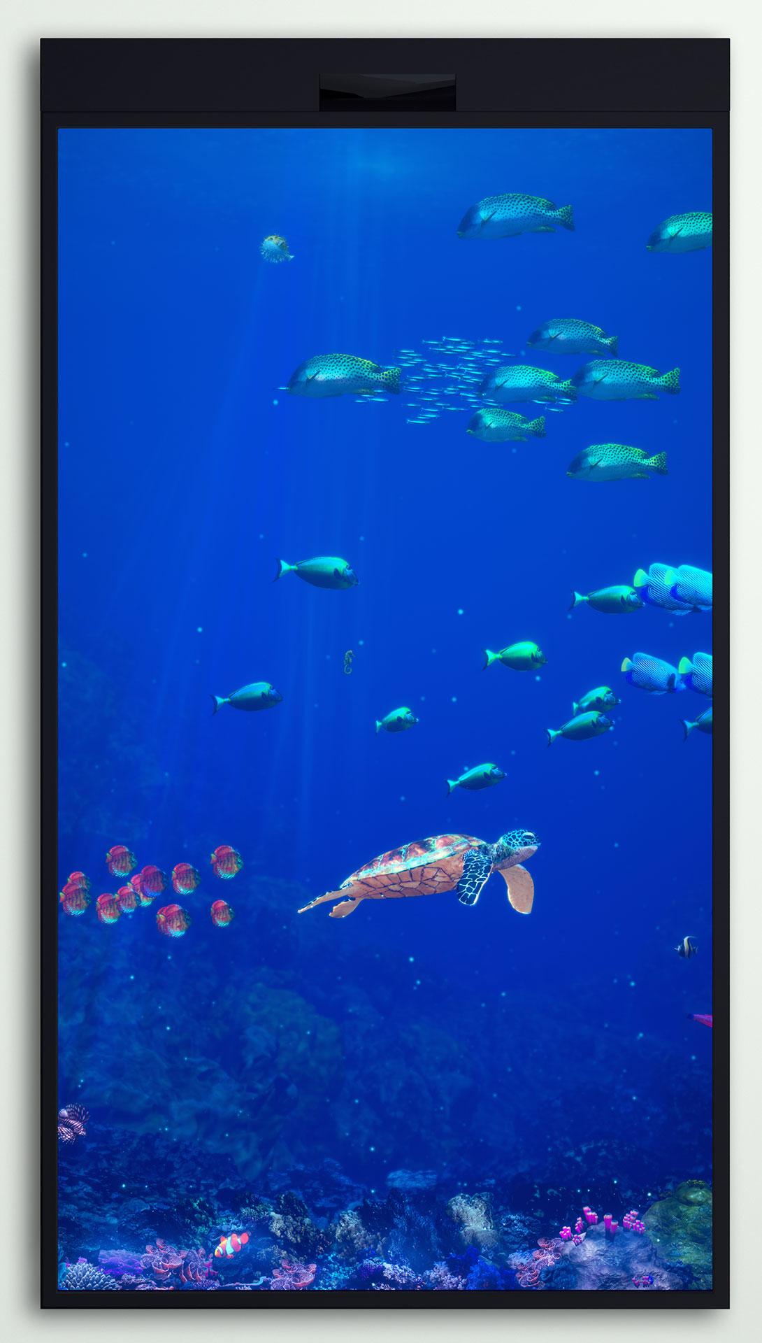 Deep Blue Interactive Aquarium (4K)