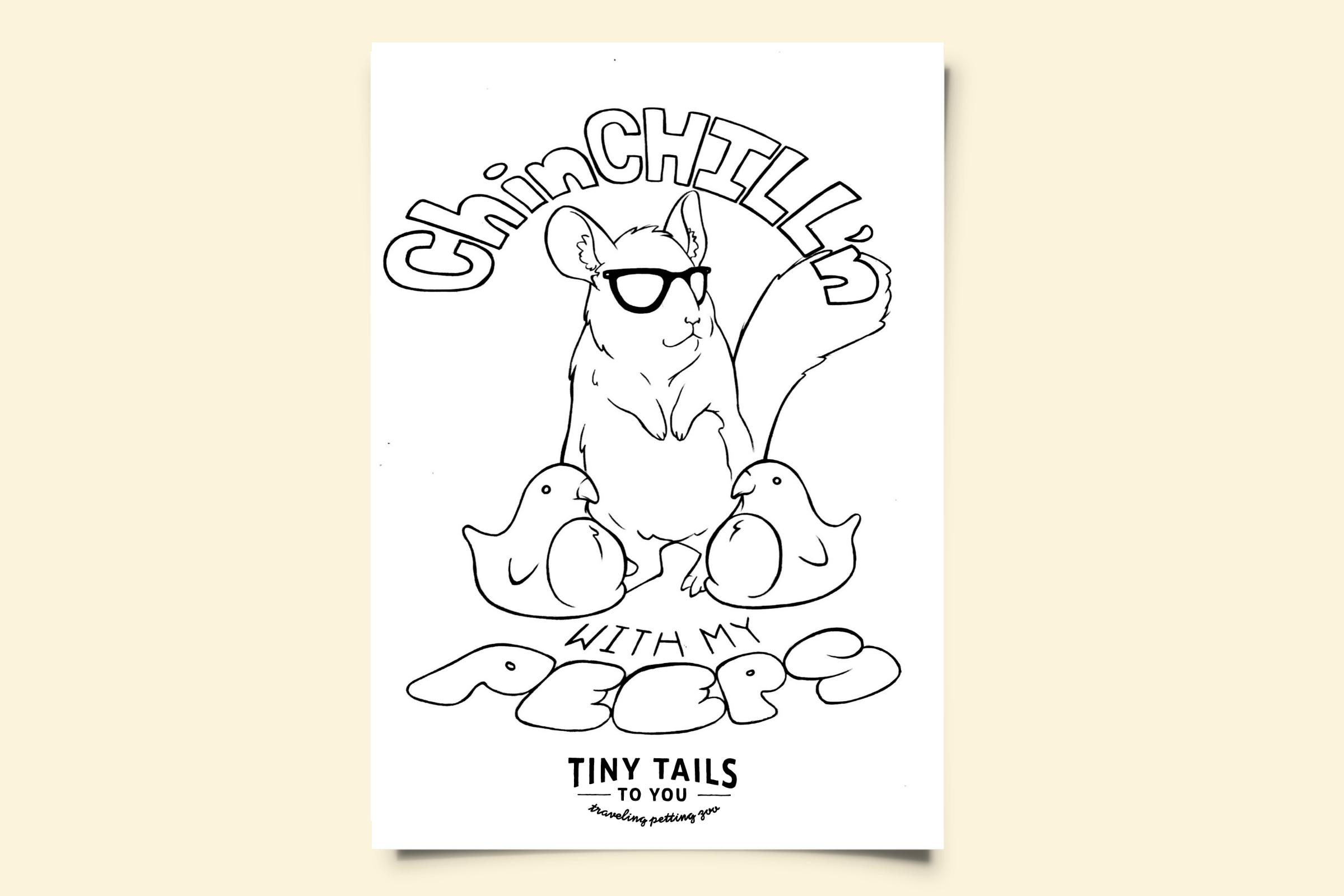 Chinchillin' Coloring Page