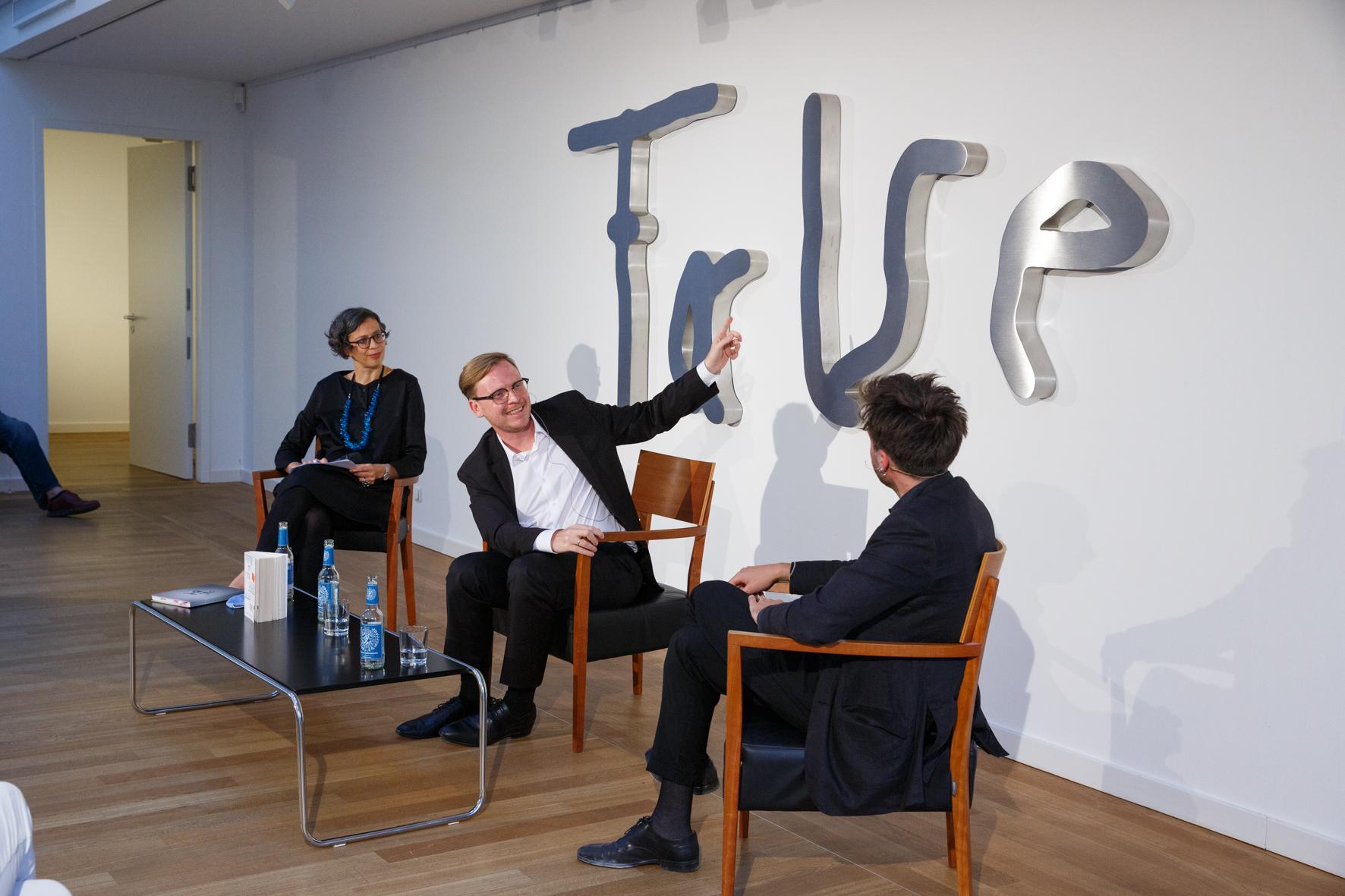 Paul Valentin Markus Gabriel Talk Kunst Art Munich Exhibition