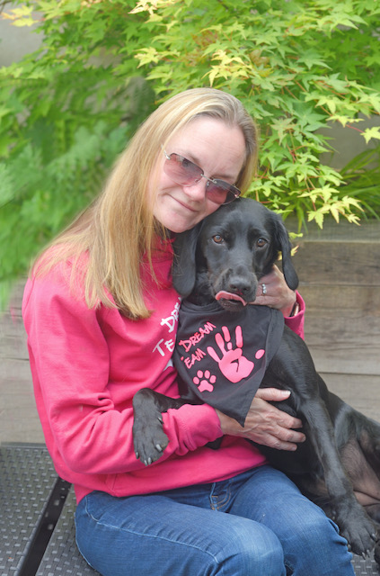 Amanda and her dog Darcy
