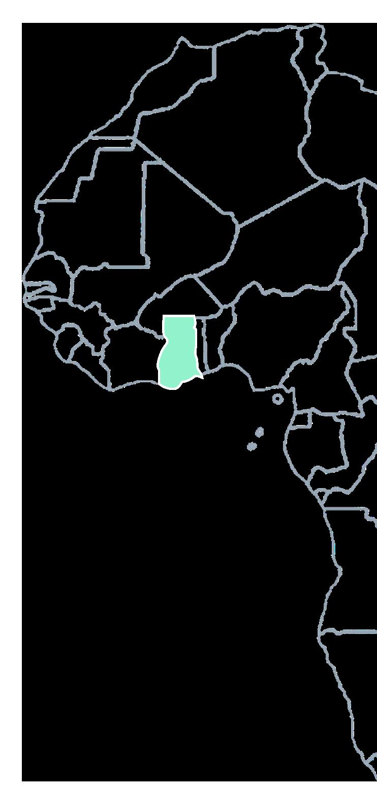 Ghana on a map
