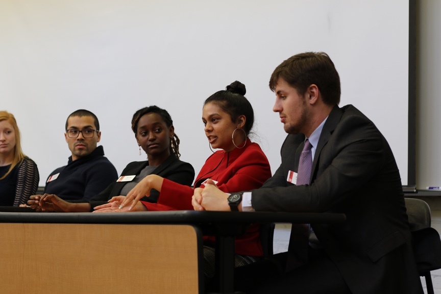 Panel of seniors at selection day