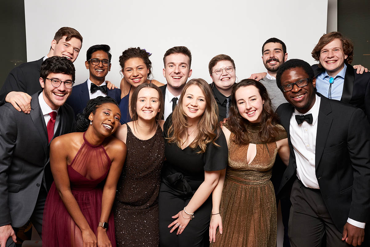 Alumni from the Class of 2018 smiling at the Gala