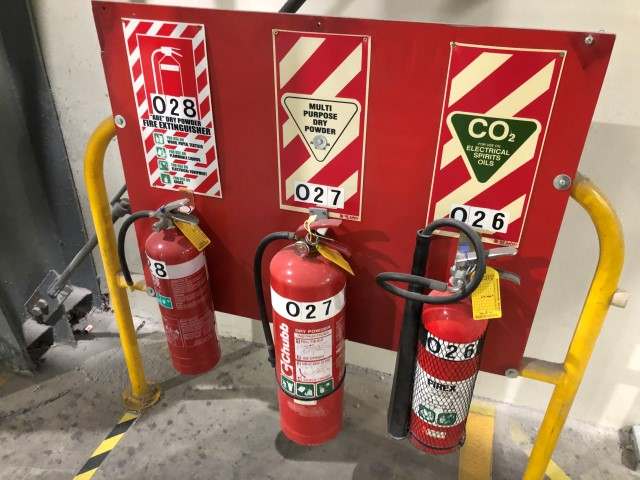 Fire Extinguishers and Stands