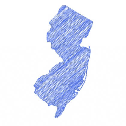 Map of New Jersey areas served