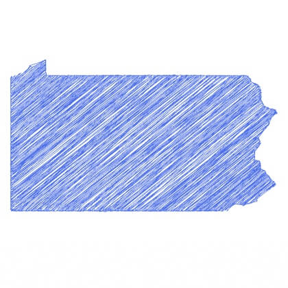 Map of Pennsylvania areas served
