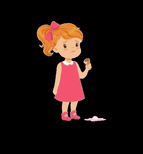 kid dropped ice cream