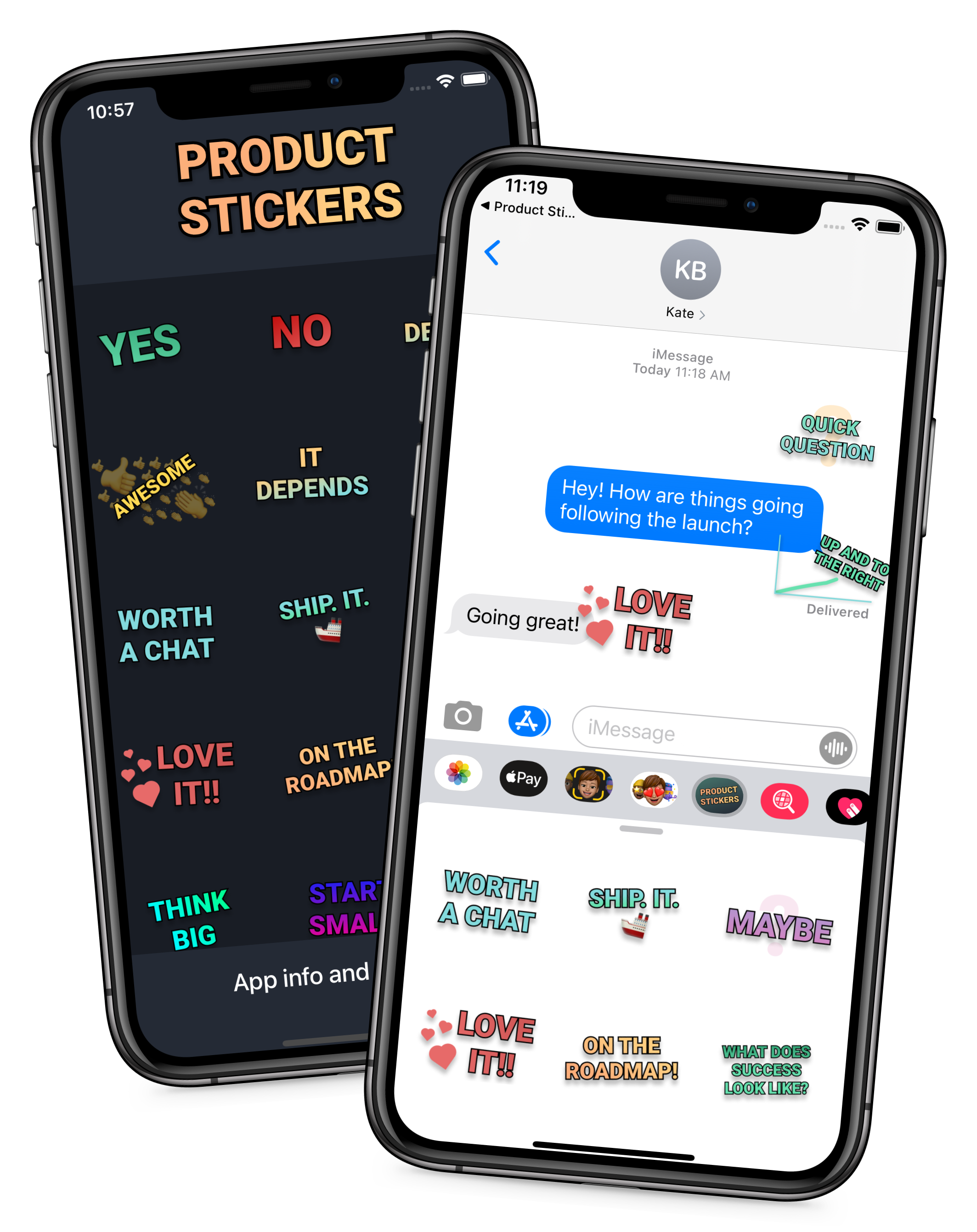 Product Stickers in iMessage