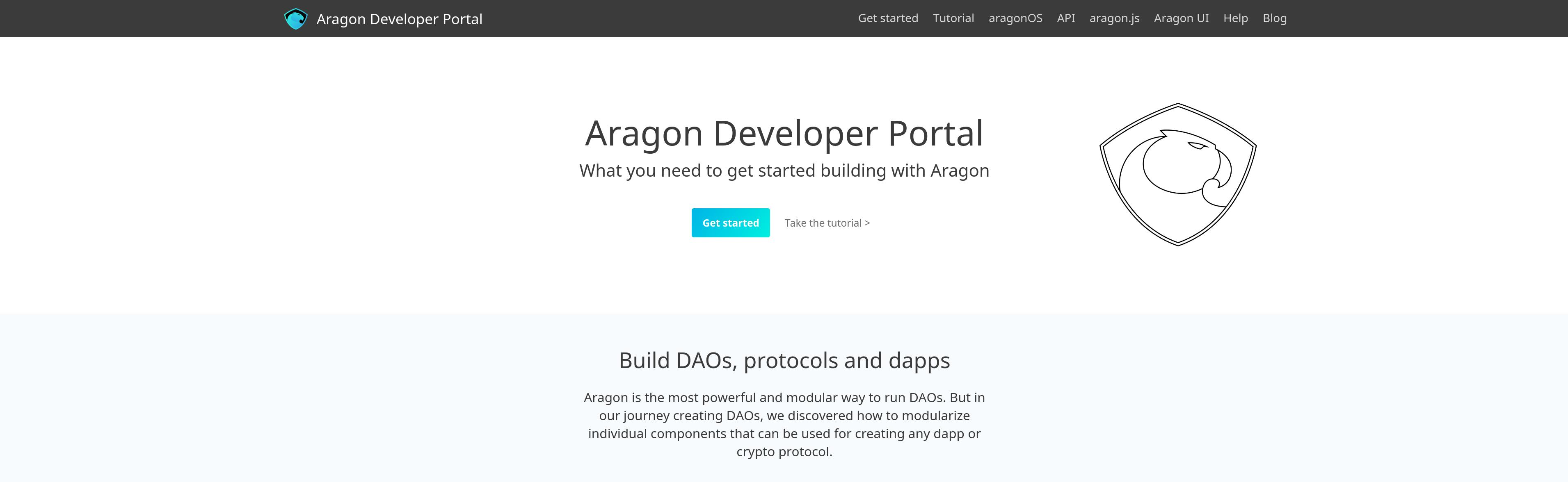 Releasing the Aragon Developer Portal