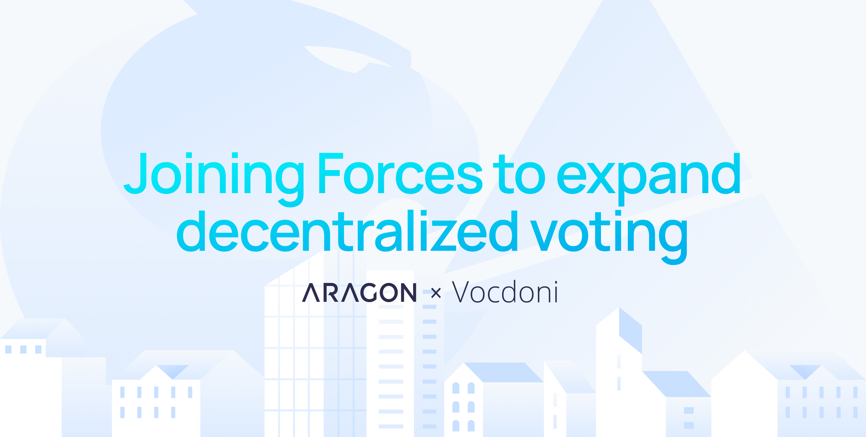 Aragon Association and Vocdoni join forces to expand decentralized voting