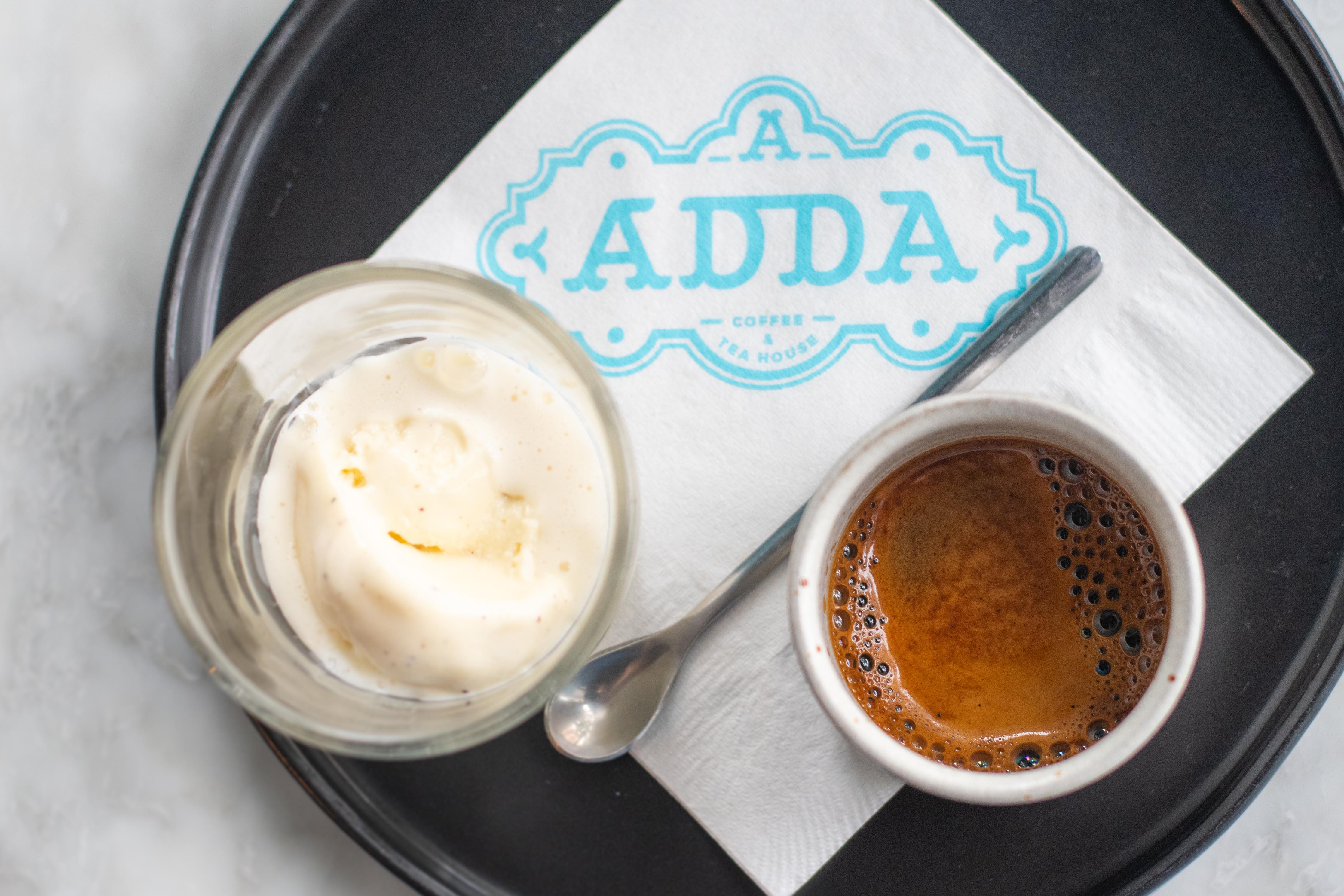 Adda's affogato with Millie's vanilla ice cream