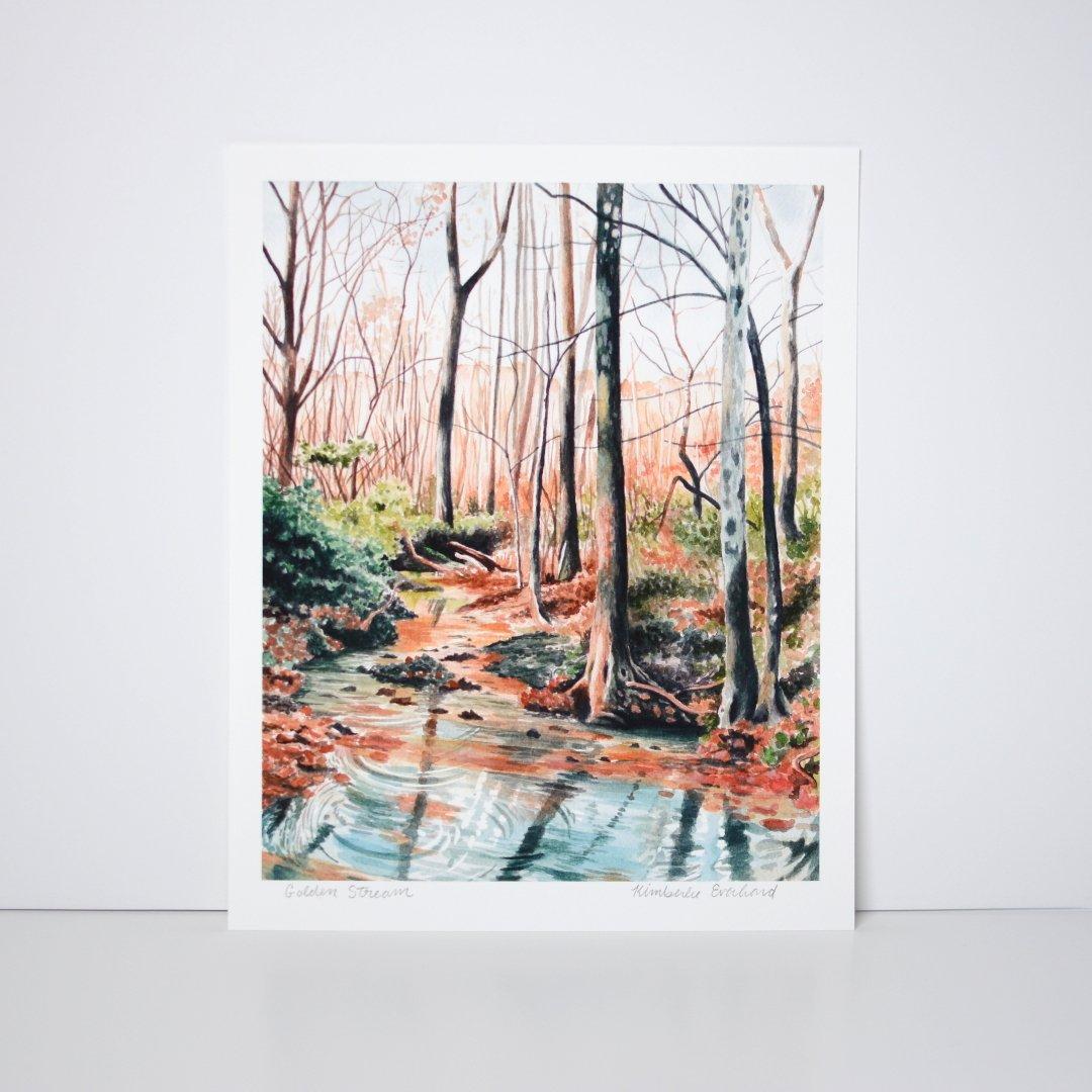 Golden Stream - Fine Art Print