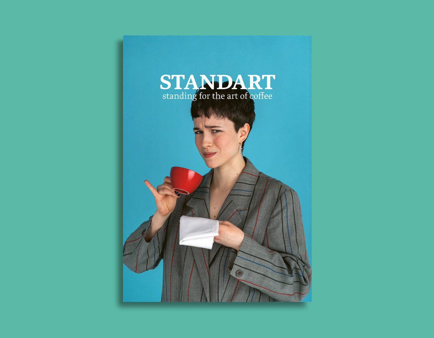 Standard Coffee Magazine with a woman drinking coffee on the front cover