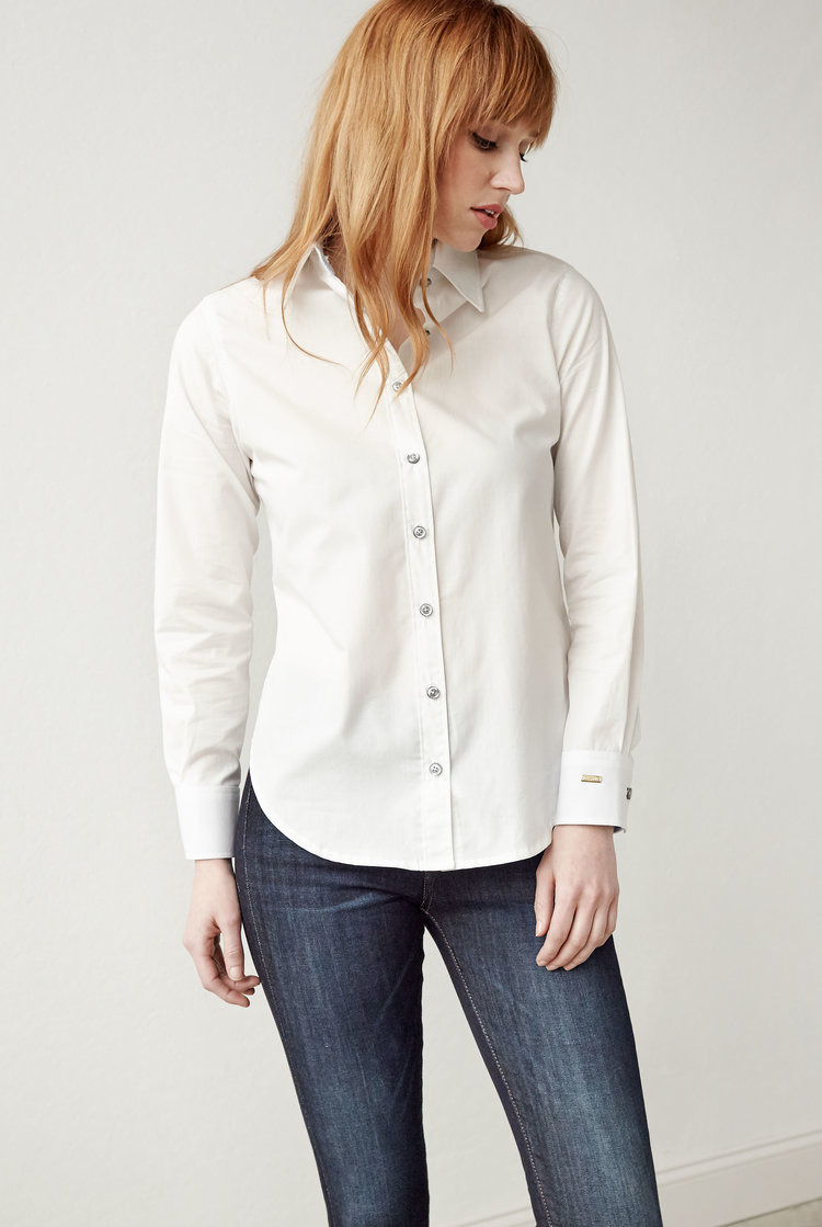 Women's Classic Button Up in White