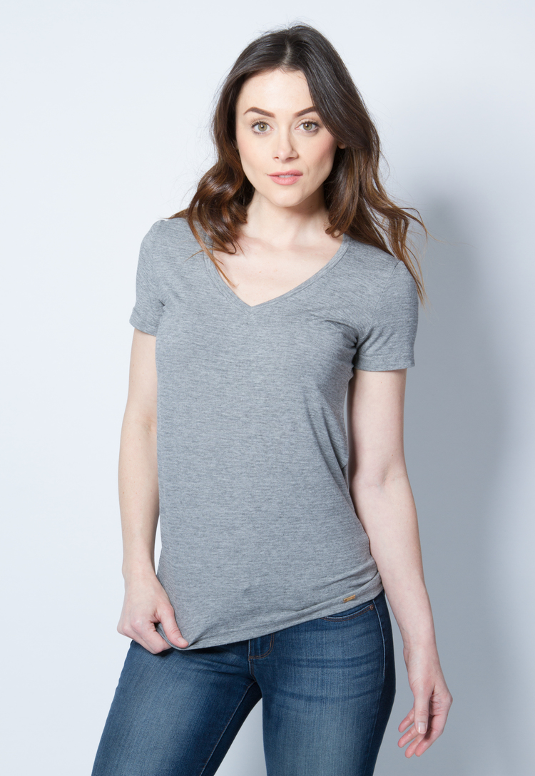 Women's Short Sleeve Tee in Gray