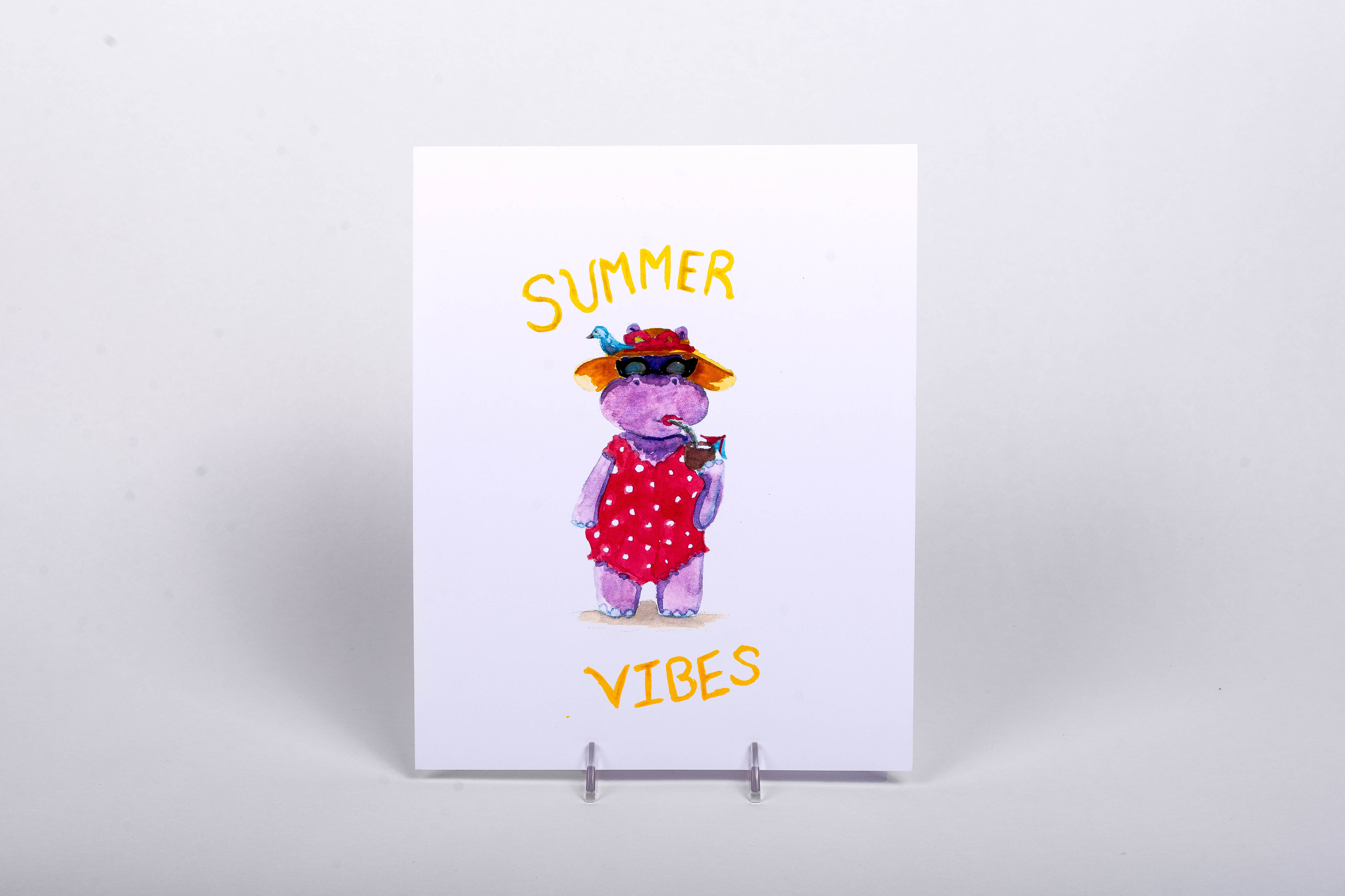 "Phoebe the Hippo ""Summer Vibesâ€"