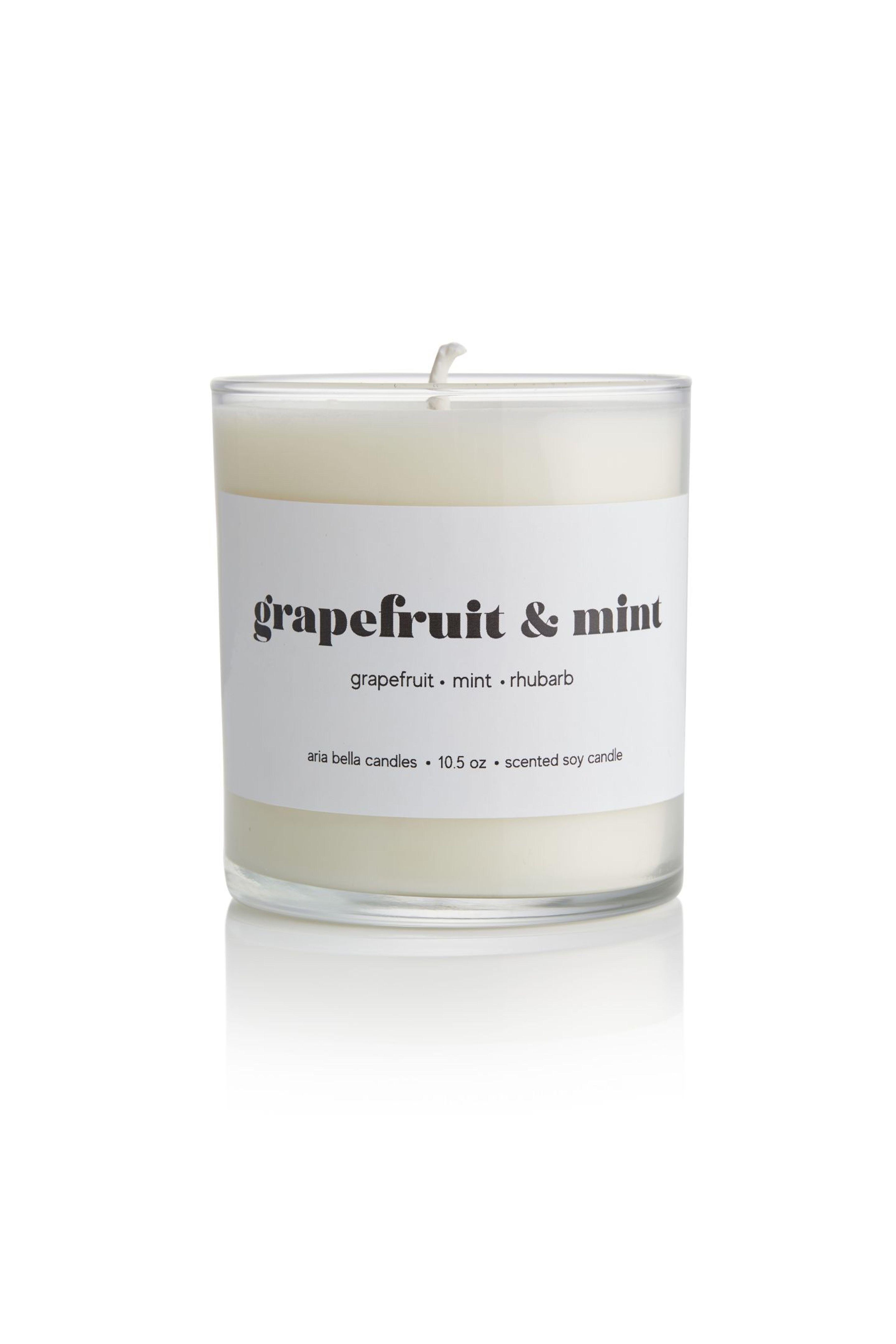 Grapefruit & Mint Candle - Aria Bella