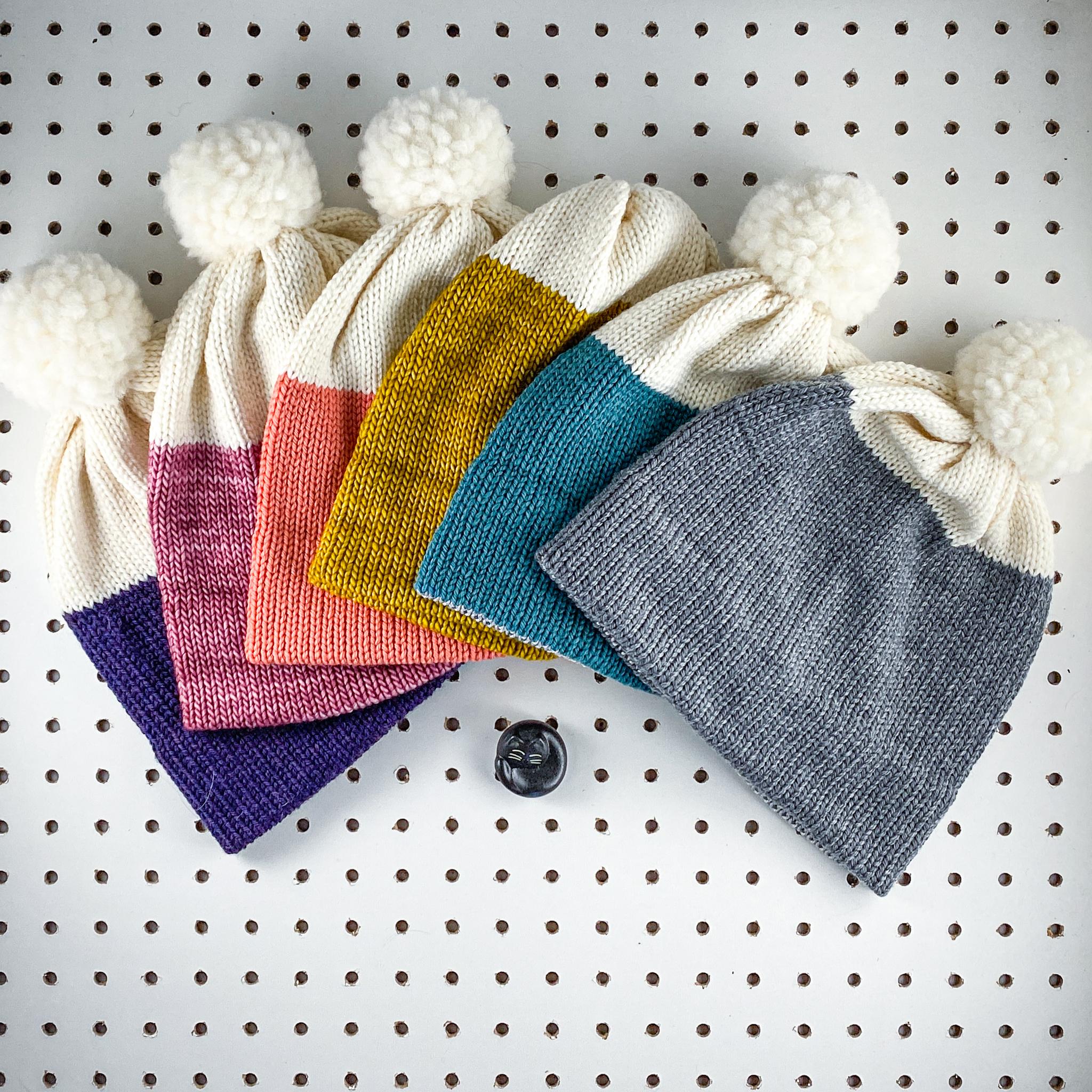 Handmade Color Block Beanie