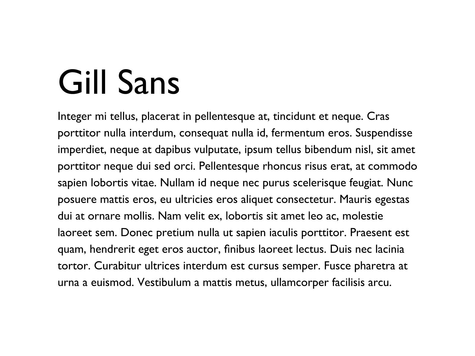 Gill Sans typeface