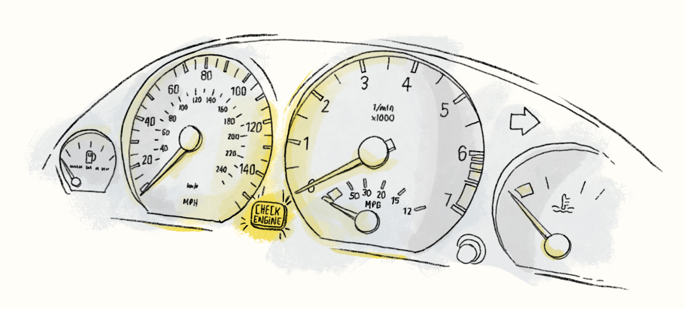 Check engine light of design feedback