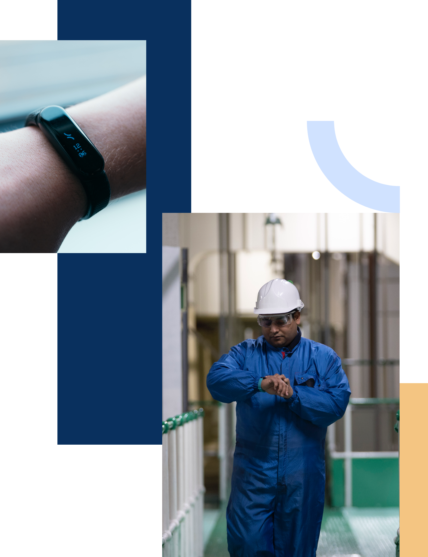 Tended's safety wearable showing the time