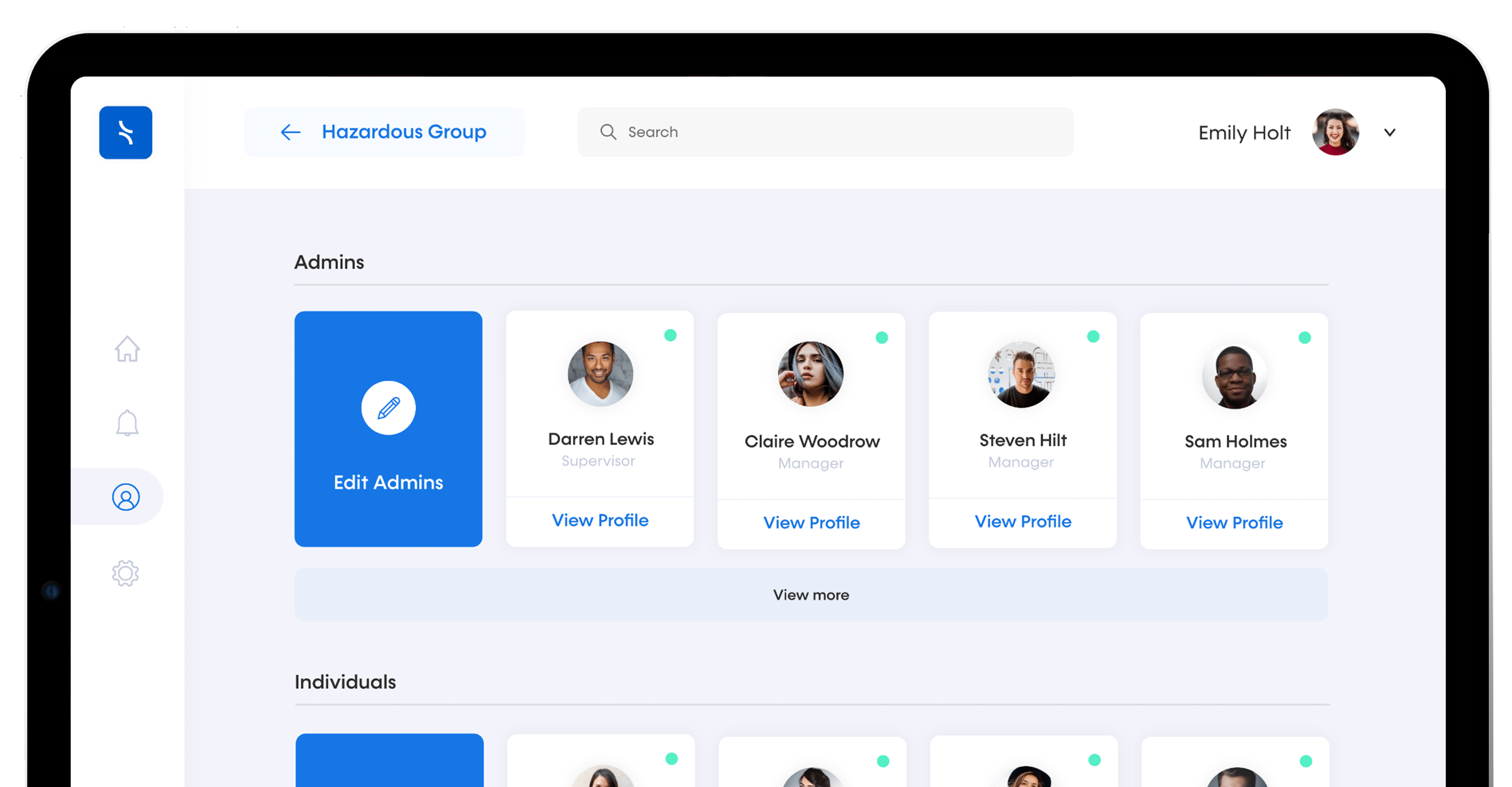 Tended's dashboard for safety analytics and social distancing data