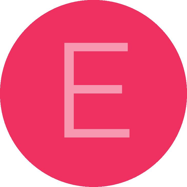 Review avatar letter E