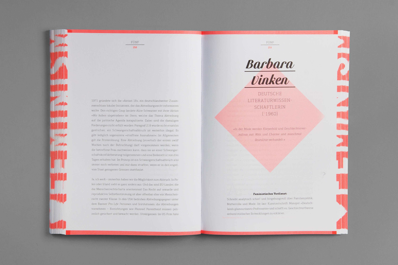 Doppelseite im Innenteil des Buches