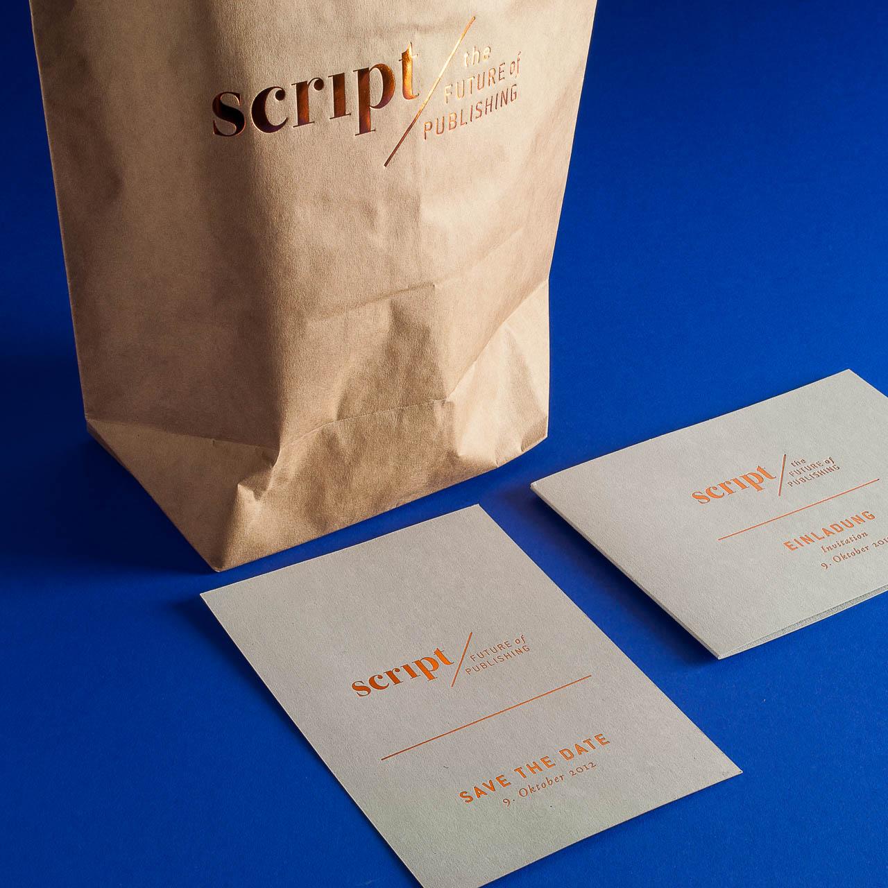 Branding auf Einladung und Goodie-Bag