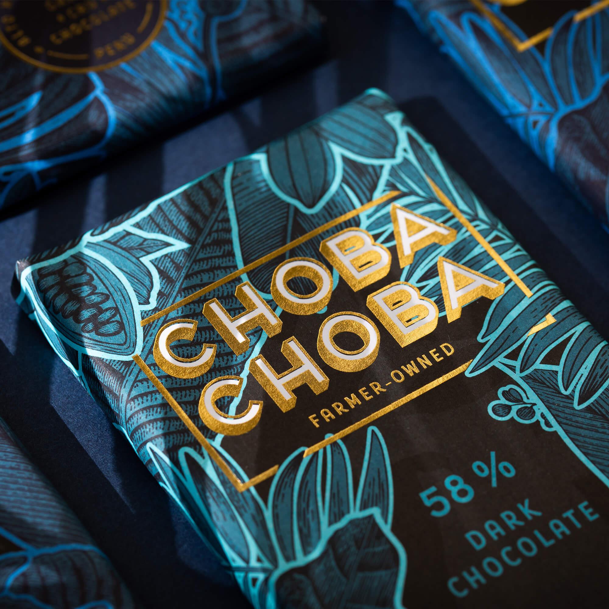 Nahaufnahme der Verpackung einer Schokoladentafel