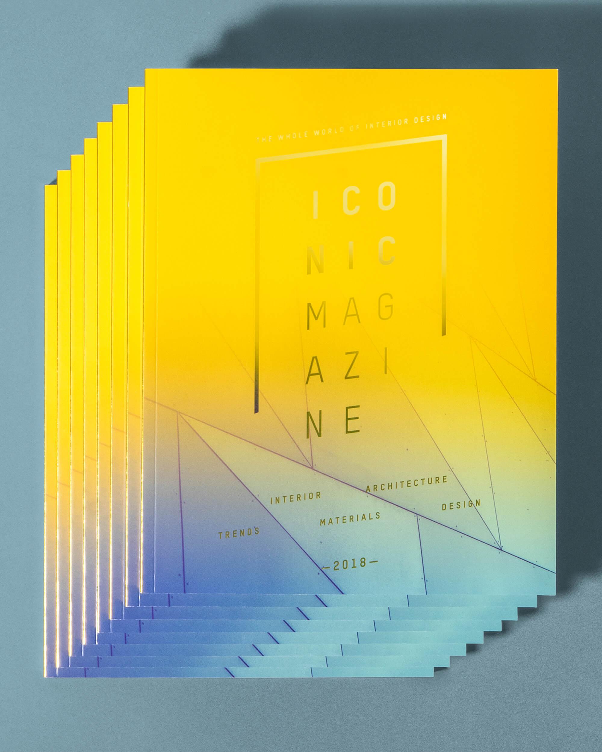 Coverdesign mit Veredelung und Kontrastfarben