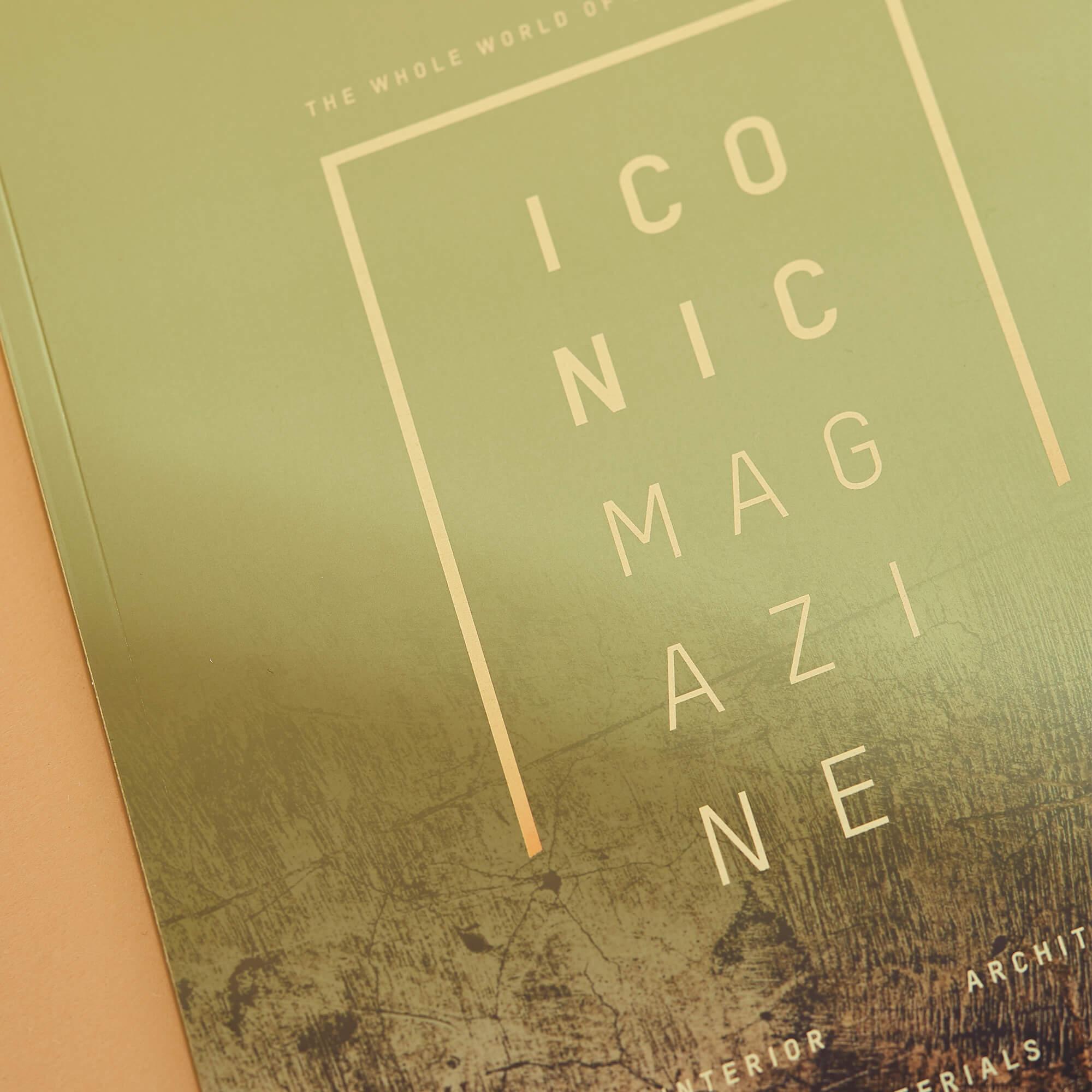 Veredelung auf dem Cover des Magazins