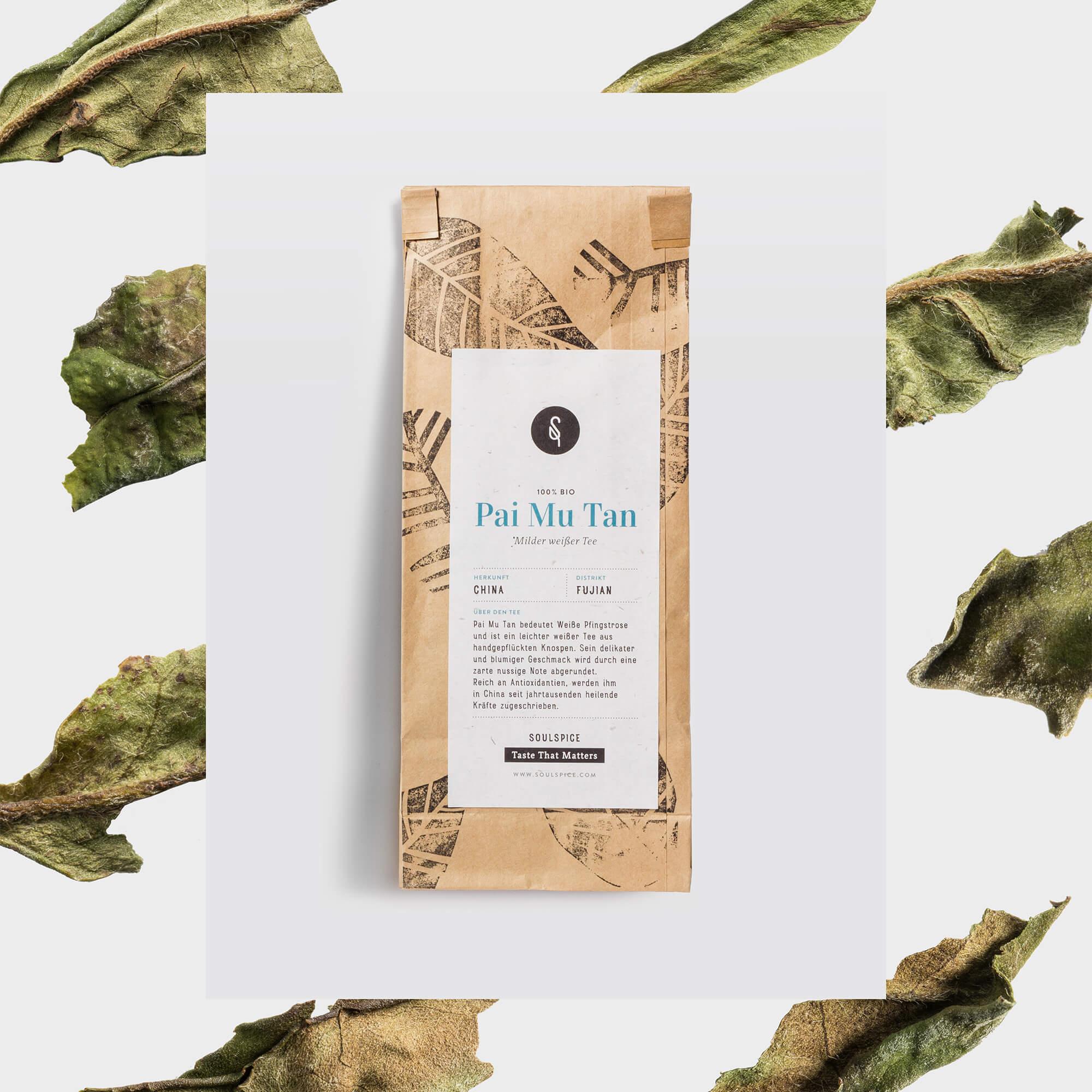 Verpackungsdesign des Tees
