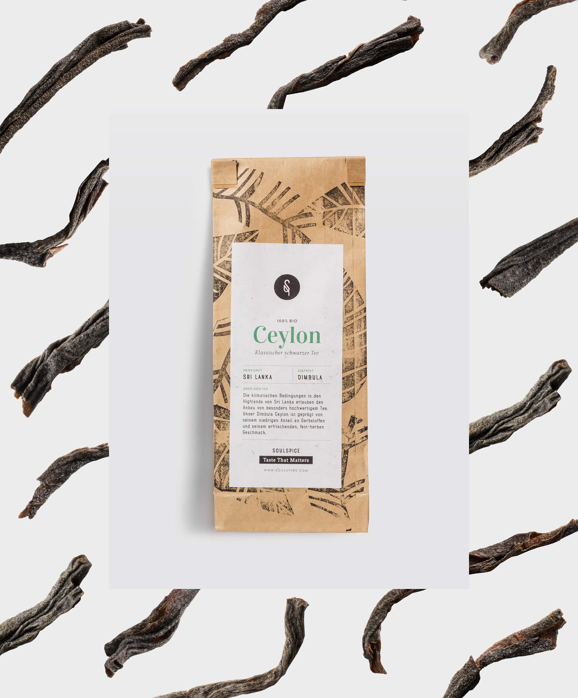 Packaging des Ceylon Tees