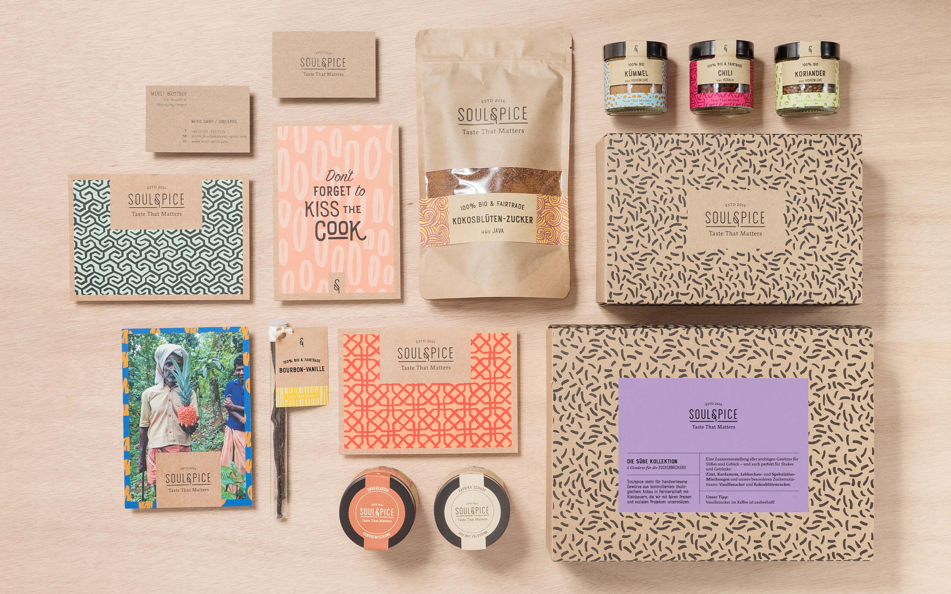 Branding Material mit Verpackungen