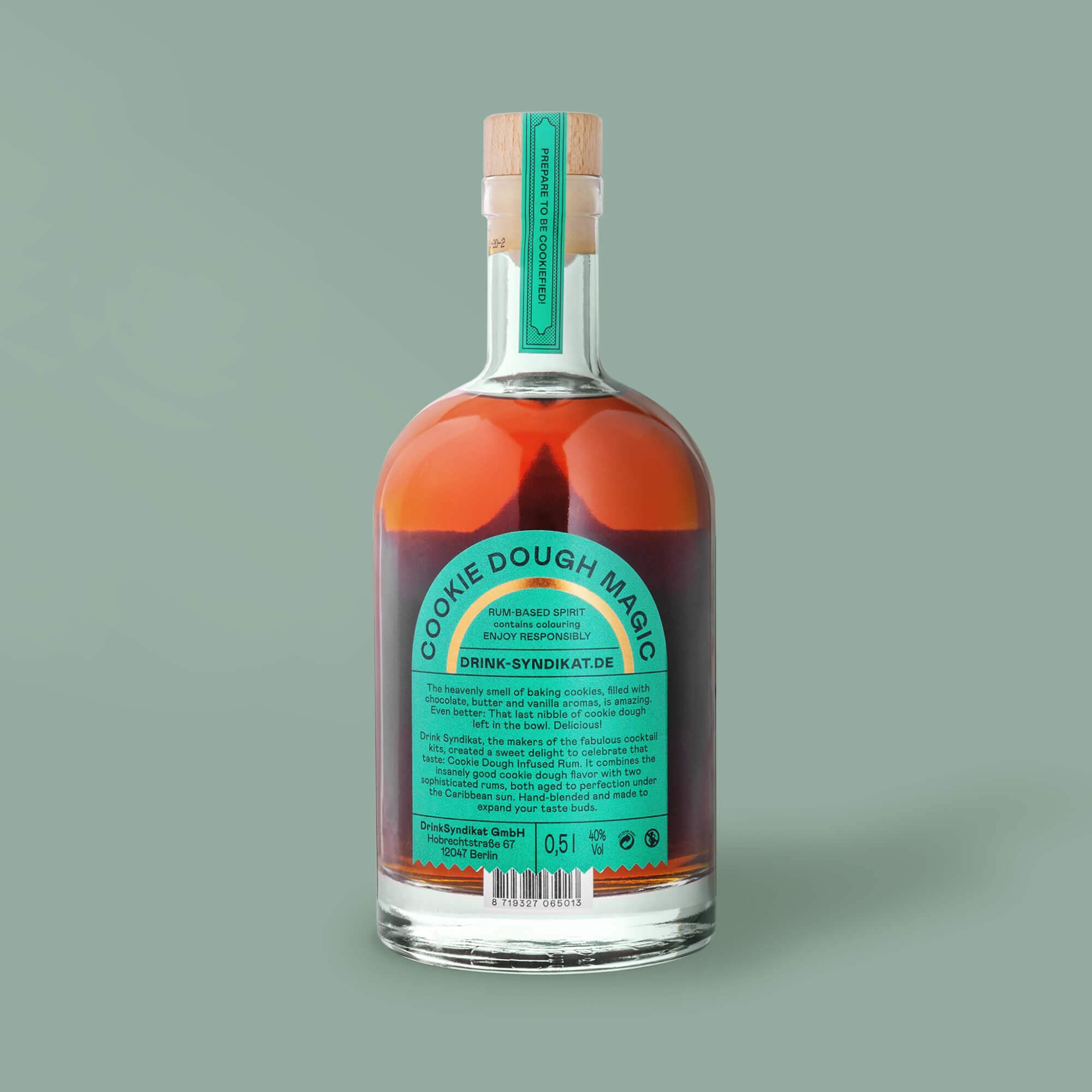Rückseite der Flasche
