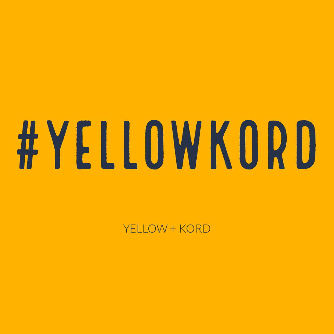 Hashtag Yellow Kord with yellow background