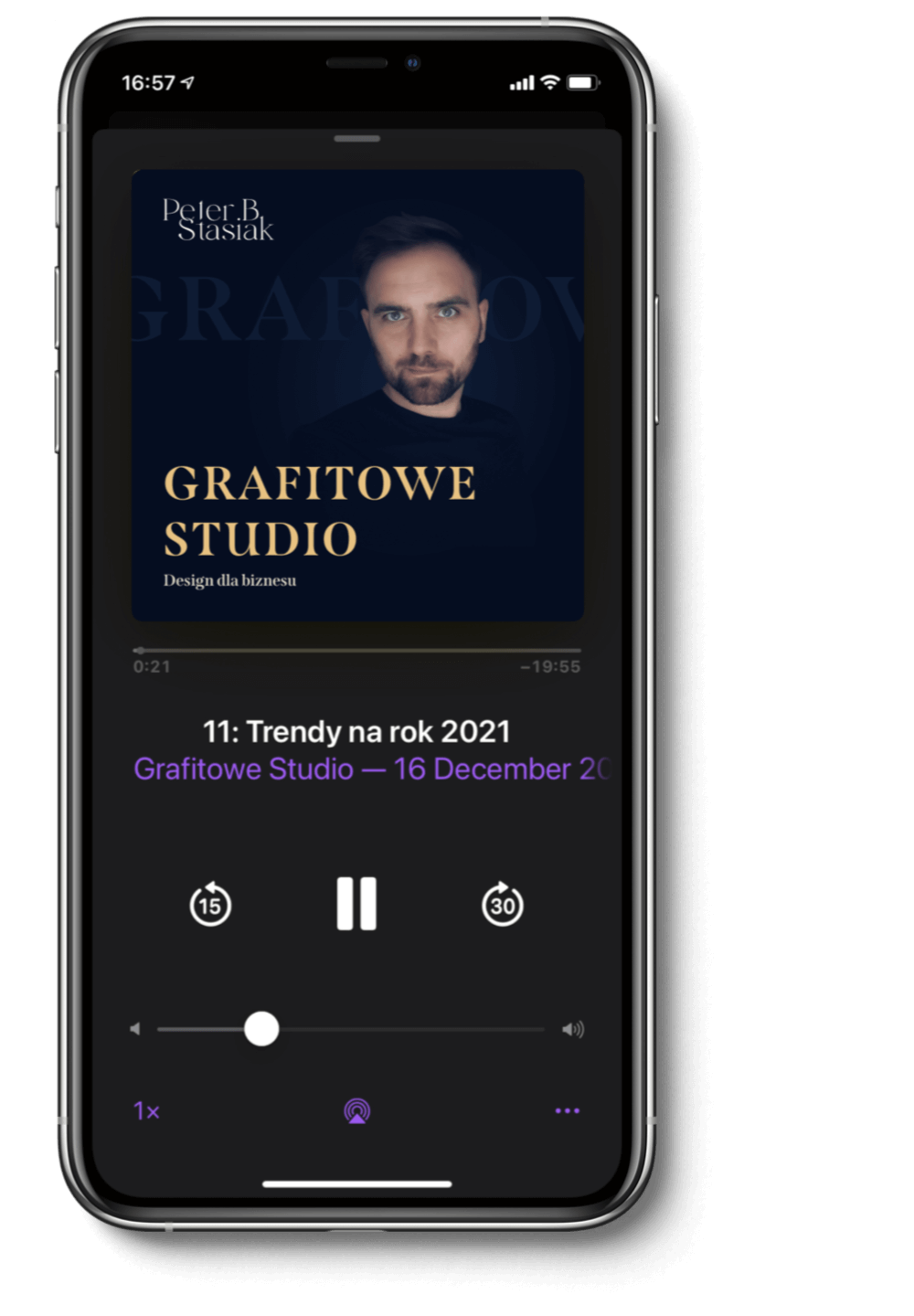 iphone podcast grafitowe studio