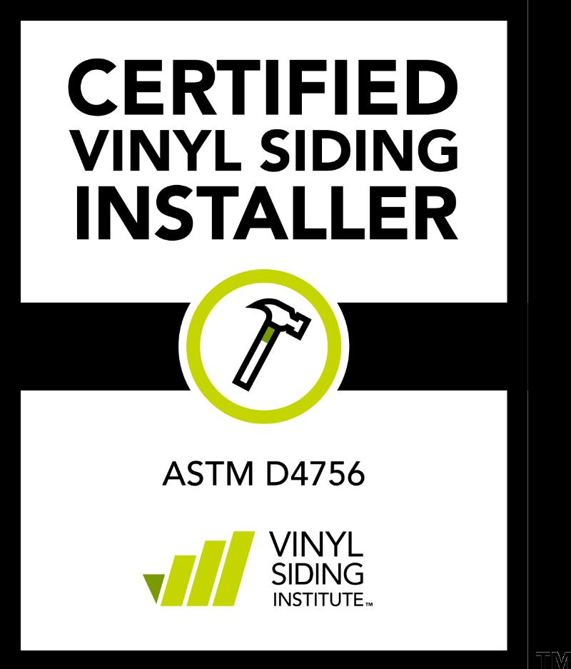 Certified Vinyl Siding Installer Logo